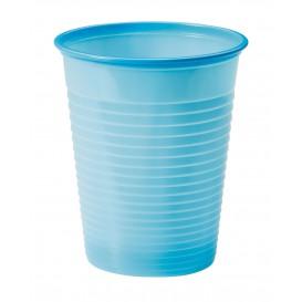 Plastic Cup PS Light Blue 200ml Ø7cm (1500 Units)
