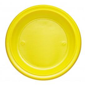Plastic Plate PS Deep Yellow Ø22 cm (600 Units)