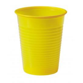 Plastic Cup PS Yellow 200ml Ø7cm (50 Units)