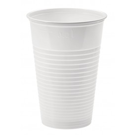 Plastic Cup PP White 230ml Ø7,0cm (100 Units)