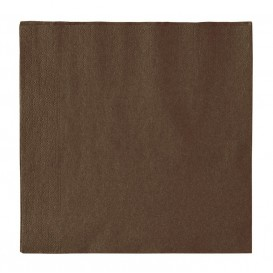 Paper Napkin 2 Layers Chocolate 33x33cm (50 Units)