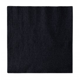 Paper Napkin 2 Layers Black 33x33cm (50 Units)