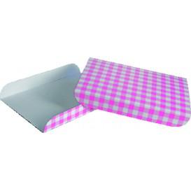 Paper Tray Waffles Pink 13,5x10cm (100 Units)