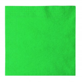 Paper Napkin 2 Layers Green 33x33cm (50 Units)