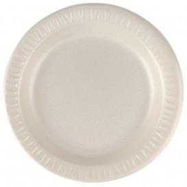 """Foam Plate """"Quiet Classic"""" Laminated Honey Ø18 cm (125 Units)"""