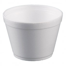 Foam Container White 16Oz/475ml Ø11,7cm (25 Units)
