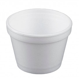Foam Container White 4Oz/120ml Ø7,4cm (1000 Units)