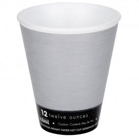"Foam Cup Fusion ""Steele""12Oz/355ml Ø9,4cm (1000 Units)"