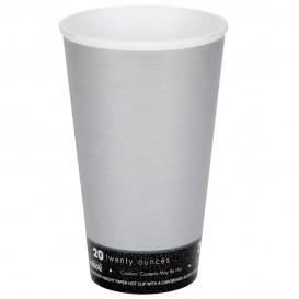 "Foam Cup Fusion ""Steele"" 20Oz/591ml Ø9,4cm (20 Units)"