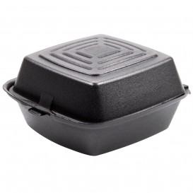 Foam Burger Boxes Take-Out Black 1,50x1,50x0,80cm (500 Units)