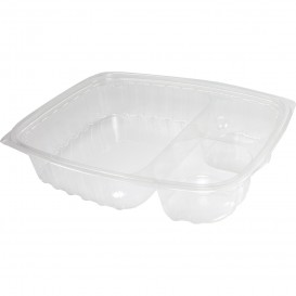 "Plastic Deli Container OPS ""ClearPac"" 3 Compartments Clear 887ml (63 Units)"