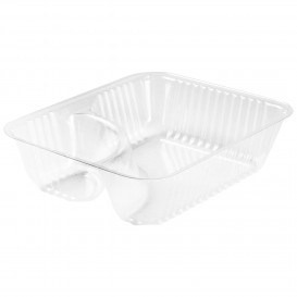 "Plastic Deli Container Clear 2C 355ml ""Nachos"" (500 Units)"