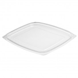 Plastic Lid for Deli Container OPS Flat Clear 710/946ml (63 Units)
