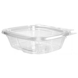Plastic Deli Container PET Tamper-Evident Dome Lid Flat 240ml (200 Units)