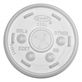 Plastic Lid with Straw Slot PS Translucent Ø8,6cm (100 Units)