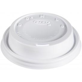 "Plastic Lid PS ""Cappuccino"" White Ø8,1cm (100 Units)"