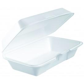 Foam Baguette Container White 2,25x1,40cm (125 Units)