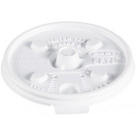 Plastic Lid PS Resealable White Ø7,4cm (100 Units)