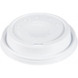"Plastic Lid PS ""Cappuccino"" White Ø9,4cm (1000 Units)"