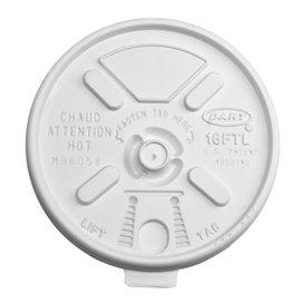Plastic Lid PS Resealable White Ø9,4cm (100 Units)