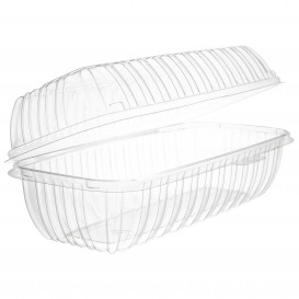 "Plastic Hinged Deli Container OPS ""Clear Seal"" 290ml (100 Units)"