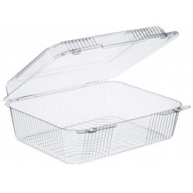 """Plastic Hinged Deli Container OPS """"StayLock"""" Clear 2760ml (200 Units)"""