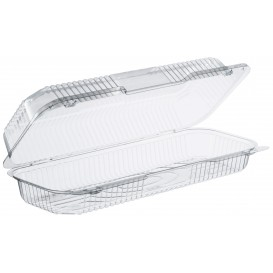 """Plastic Hinged Deli Container OPS """"StayLock"""" Clear 770ml (250 Units)"""