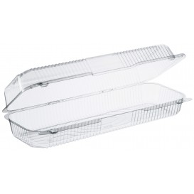 """Plastic Hinged Deli Container OPS """"StayLock"""" Clear 1310ml (250 Units)"""