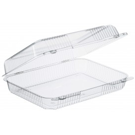 """Plastic Hinged Deli Container OPS """"StayLock"""" Clear 1430ml (250 Units)"""