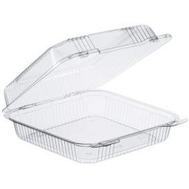 """Plastic Hinged Deli Container OPS """"StayLock"""" Clear 1120ml (200 Units)"""