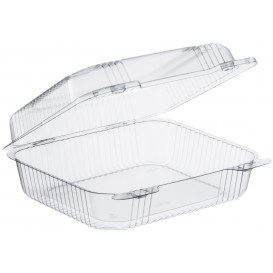 """Plastic Hinged Deli Container OPS """"StayLock"""" Clear 1260ml (125 Units)"""