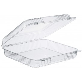 """Plastic Hinged Deli Container OPS """"StayLock"""" Clear 1370ml (250 Units)"""