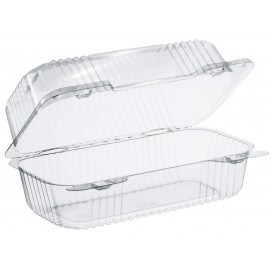 """Plastic Hinged Deli Container OPS """"StayLock"""" Clear 707ml (250 Units)"""
