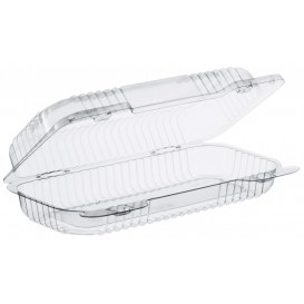 """Plastic Hinged Deli Container OPS """"StayLock"""" Clear 440ml (125 Units)"""
