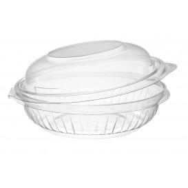 "Plastic Hinged Salad Bowl PET ""PresentaBowls"" High Dome Lid 240ml (75 Units)"