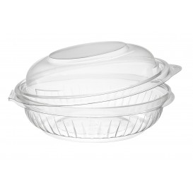 "Plastic Hinged Salad Bowl PET ""PresentaBowls"" High Dome Lid 240ml (300 Units)"