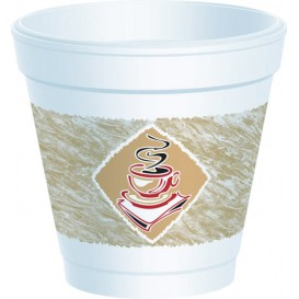 "Foam Cup EPS ""Café"" 4Oz/120ml Ø6,9cm (50 Units)"