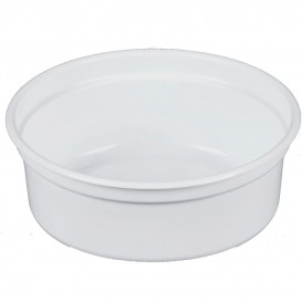 "Plastic Deli Container PP ""Deli"" 8Oz/266ml White Ø12cm (25 Units)"