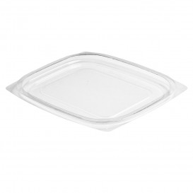 Plastic Lid OPS for Deli Container Flat Clear 237/355/473ml (63 Units)