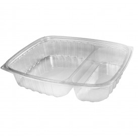 "Plastic Deli Container OPS ""ClearPac"" 2 Compartments Clear 887ml (252 Units)"