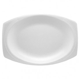 "Foam Tray ""Quiet Classic"" White 23X18cm (125 Units)"