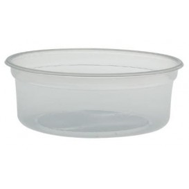 "Plastic Deli Container PP ""Deli"" 8Oz/266ml Transp Ø12cm (500 Units)"