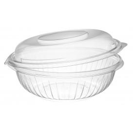 "Plastic Hinged Salad Bowl PET ""PresentaBowls"" High Dome Lid 710ml (75 Units)"