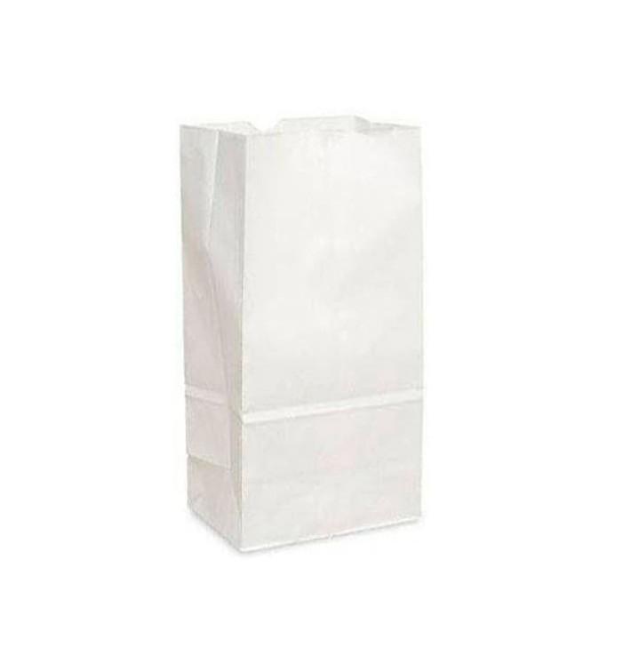 Paper Bag without Handle Kraft White 12+8x24cm (1000 Units)