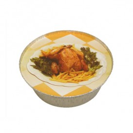 Paper Lid for Roast Chicken Round Shape 1900ml (500 Units)