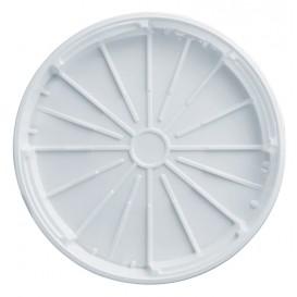 Plastic Lid PS for Pizza White 32 cm (200 Units)