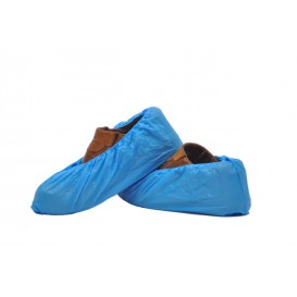 Disposable Plastic Shoe Covers PE G80 Blue (100 Units)