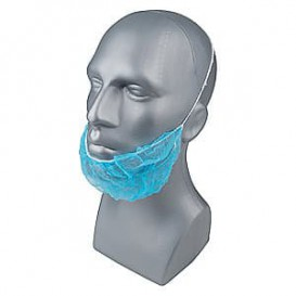 "Disposable Beard Cover ""TST"" PP Blue (100 Units)"