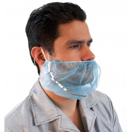 "Disposable Beard Cover ""TST"" PP Blue Detectable (1000 Units)"