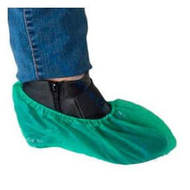 Disposable Plastic Shoe Covers PE CPE G160 Green (100 Units)